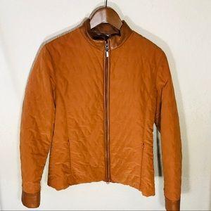Orange Quilted Missoni Jacket
